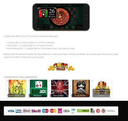 Roulette Casino Play At Coinfalls