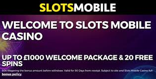 Welcome Offers Mobile Slots